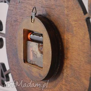zegary drewniany cichy, zegar 45 cm