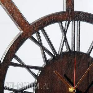 zegary zegar cichy, drewniany zegar, wenge