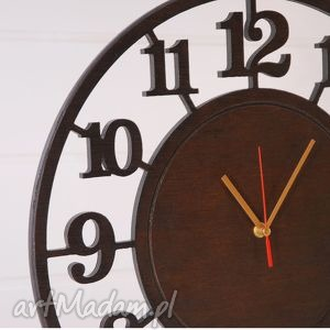 ręcznie zrobione zegary zegar cichy, drewniany 45 cm