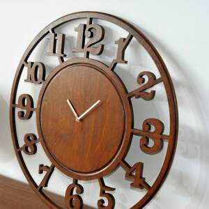 zegary zegar 60 cm - drewniany ścienny