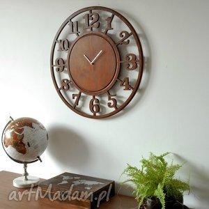 zegary 60 cm - drewniany zegar ścienny