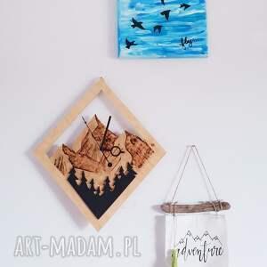 ciekawe zegary góry drewniany zegar ścienny las na tle