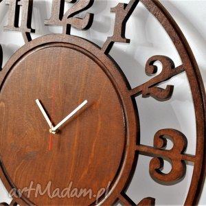 zegar 60 cm - drewniany ścienny