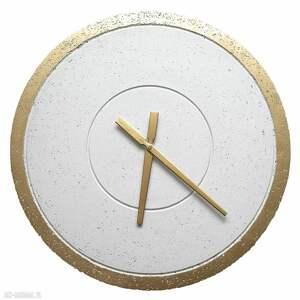 nowoczesny zegary duży betonowy zegar ścienny złoty