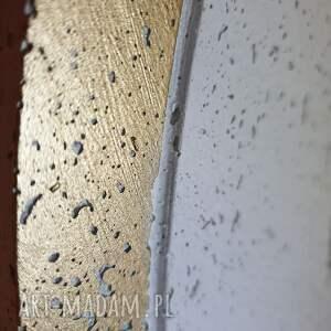 unikalne zegary zegar betonowy duży ścienny złoty