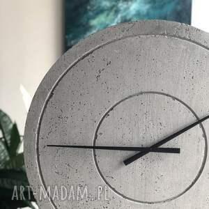 szare zegary zegar z-z betonu duży betonowy handmade