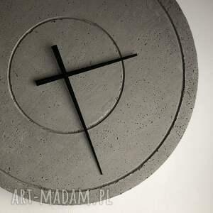 loftowy zegar zegary duży betonowy handmade