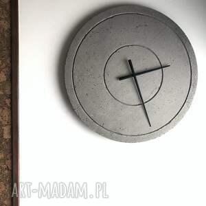 efektowne zegary zegar z-z betonu duży betonowy handmade