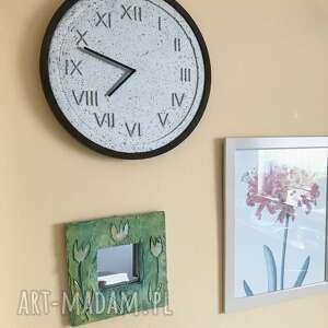 szare zegary designerski handmade zegar z betonu szary