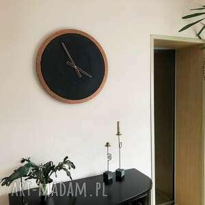 nowoczesny zegary ręcznie wykonany duży betonowy