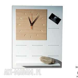organizer zegary białe set1 - drewniany zegar