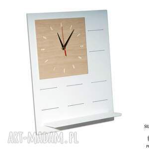 czarne zegary zegar set1 - organizer drewniany
