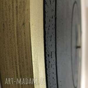 czarne zegary betonowy stylowy oryginalny zegar