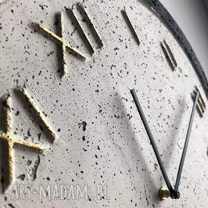 czarne zegary zegar betonowy handmade z betonu