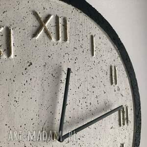czarne zegary zegar vintage betonowy handmade z betonu