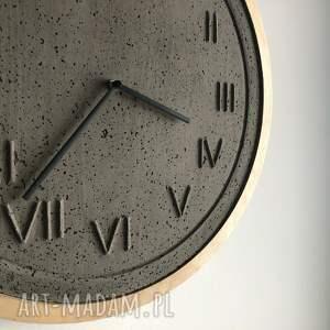 zegary z betonu zegar betonowy roman natural