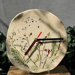 kolorowe zegary kwiaty polne zegar ceramiczny