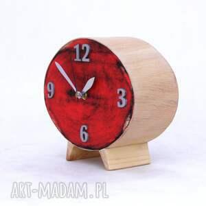 prezent pod choinkę drewniany zegar