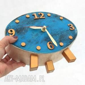 ClockWoodStudio nietypowe zegar drewniany elipsa