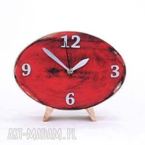 prezent pod choinkę zegar biurkowy drewniany elipsa