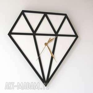 zegary duży zegar drewniany diament