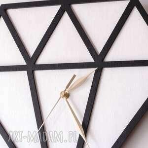 duży zegary zegar drewniany diament