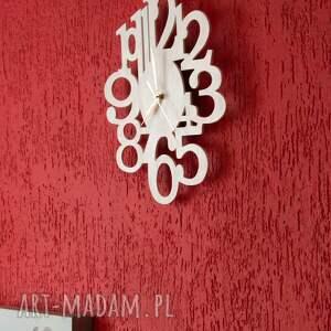 zegary drewno zegar drewniany biały