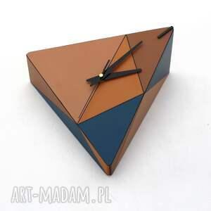 pomysł co pod choinkę zegar geometryczny drewniany geometric spicy