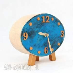 drewno zegary zegar drewniany elipsa