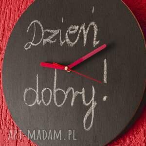 farbatablicowa zegary zegar drewniany pokryty farbą