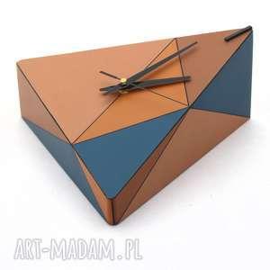 pomysł co pod choinkę beżowe zegar drewniany geometric spicy
