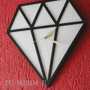 zegary zegar drewniany diament