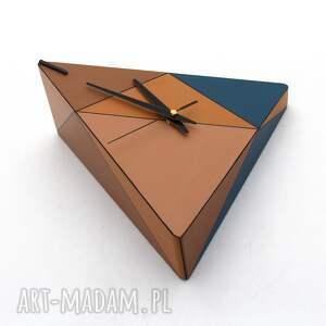 pomysł co pod choinkę ręcznie malowany zegar drewniany geometric spicy