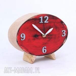 prezent pod choinkę drewniany zegar elipsa