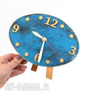 nietypowe zegary drewno zegar drewniany elipsa
