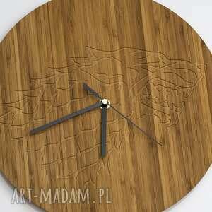 bambus zegary zegar drewniany wolf 100% drewno