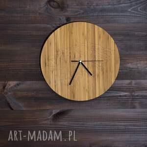 nietypowe zegary bambus zegar drewniany wolf 100% drewno