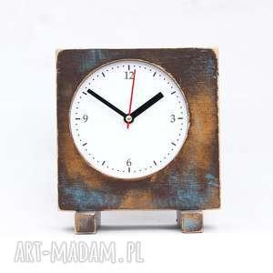 modne zegary vitage styl zegar drewniany sixty stojący