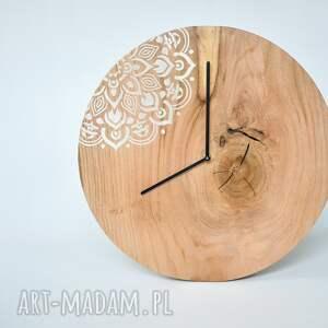 ręcznie zrobione zegary debowy zegar loft - dębowy duży z motywem
