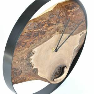 ręcznie wykonane zegary drewniany zegar loft - orzechowy - 40cm