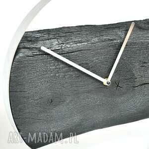 hand made zegary drewno zegar loft - dębowy palony