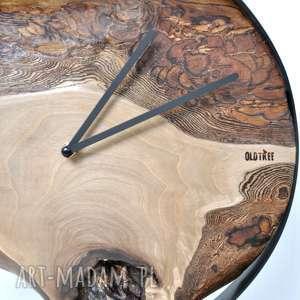 loftowy zegary zegar loft - orzechowy - 40cm