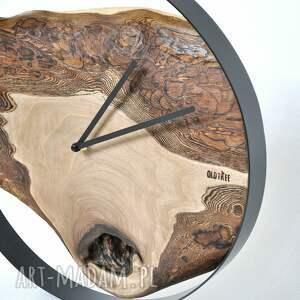 brązowe zegary drewniany zegar loft - orzechowy - 40cm