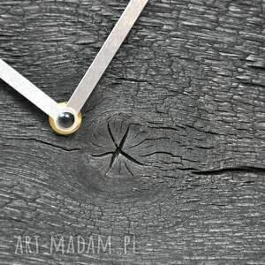 czarne zegary drewno zegar loft - dębowy palony