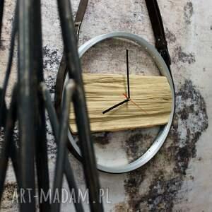 drewniany zegary zegar na skórzanych pasach