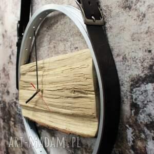 gustowne zegary skórzany zegar na skórzanych pasach