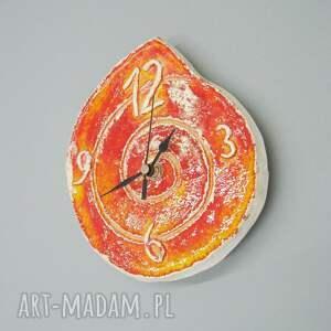 unikalne zegary dekoracja zegar pomarańczowy