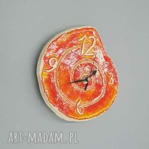 zegary dekoracja zegar pomarańczowy
