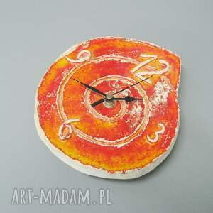 unikalne zegary wnętrze zegar pomarańczowy