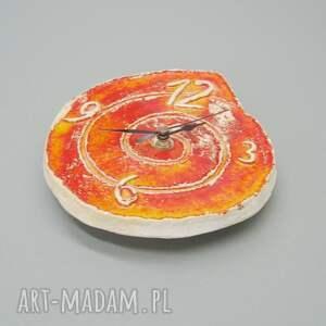 dekoracja zegary zegar pomarańczowy